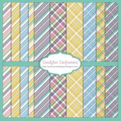 Free Printable Digital Paper Pack - Candybar Confessions