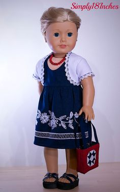 RESERVED FOR S.K.: 18 inch American Girl Doll Clothing. Navy