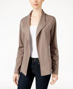 Style & Co. Knit Blazer, Only at Macy's - Jackets - Women - Macy's