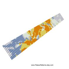 PP65 - Even Count Peyote Stitch Bracelet Pattern - Bead Loom Bracelet Pattern by PalacePatterns on Etsy