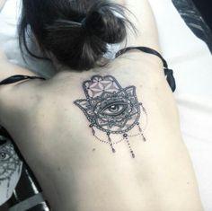 hamsa hand tattoo design on back Hamsa Hand Tattoo, Hand Tattoos, Flower Tattoo Hand, Mom Tattoos, Body Art Tattoos, Sleeve Tattoos, Tatoos, Tulip Tattoo, Symbol Tattoos With Meaning