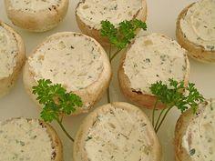 Gefüllte Champignons mit Frischkäse
