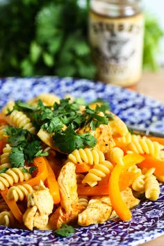 My people will be healthy and happy with this BBQ chicken pasta.