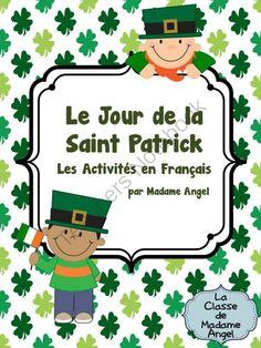 Saint Patricks Day Literacy Activities in French from LaClassedeMadameAngel on TeachersNotebook.com -  (21 pages)  - Le Jour de la Saint Patrick:  Set of Saint Patrick's Day Literacy Activities in French