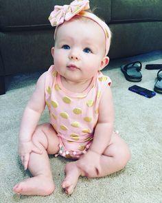 Baby Girl Romper #polkadot #romper #dashingbaby