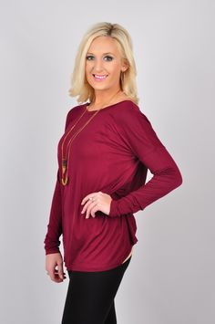 There's no Backing Out in our Backing Out Top! This top is a perfect balance of elegant and chic. With a crossover drape in the back, you're sure to reel in the compliments! This long sleeve, round neck knitted top is made out of 94% Rayon and 6% Spandex. Machine-wash cold. Hang dry.