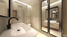 Modern beige bathroom by Kolodziej & Szmyt