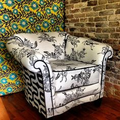 fully reupholstered cushioned barrel chair.  by redheadeddesign, $650.00