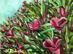 Small original impressionistic oil painting on 6 by EileenDeSantis