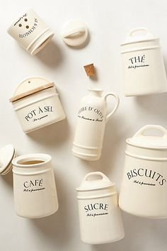 A taste of Paris in your kitchen - bistro canisters #anthroregistry http://rstyle.me/n/p48j5nyg6