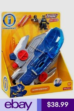 New- Fisher-Price® Imaginext Justice League Javelin Ship and Batman Playset Kids Spiderman Costume, Ryder Paw Patrol, Happy Birthday Drawings, Batman Room, Power Rangers Ninja Steel, Best Kids Watches, Cute Workout Outfits, Lego City Police, Baby Girl Toys