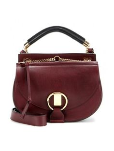 4b6f447e9969 Goldie Small Leather And Suede Shoulder Bag Red Shoulder Bags
