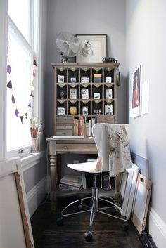 A small space is still a great opportunity for a home office.