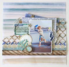 Kaisercraft February 2016 Challenge - Coastal escape by Alicia McNamara
