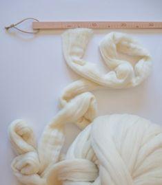 Ovillo 3XL blanco de lana merino 100% #knittingnoodles
