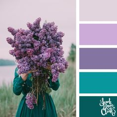 25 Color Palettes Inspired by the Pantone Fall/Winter 2018 C.- 25 Color Palettes Inspired by the Pantone Fall/Winter 2018 Color Trends Pretty purple and teal color scheme Color Schemes Colour Palettes, Colour Pallette, Color Combos, Purple Color Schemes, Color Schemes For Bedrooms, Lavender Color Scheme, Interior Design Color Schemes, Color Mixing Chart, Bohemian Interior Design