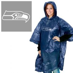 Seattle Seahawks Rain Poncho Brand New Size - One Size Features - Team Logo Lightweight Pull Over Design Material - 100% Polyethylene Made by Wincraft Shipping - 4.99 All merchandise is shipped within 1-3 Business Days of receiving your orderPlease allow 7-10 business days for delivery. In rare cases, some shipments may take up to 14 days. We only ship to the Continental U.S. Returns-All items may be returned within 14 days of receiving. 20% Restocking fee Buyer pays return shipping We are all a Rain Poncho, Seattle Seahawks, Raincoat, Bomber Jacket, Brand New, Team Logo, How To Wear, Shopping, Nfl Sports