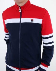 b46535408244 Fila Vintage Courto Track Jacket Navy,top,tracksuit,vilas,borg,mens