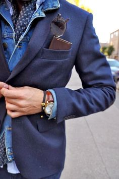 Smart way to wear denim. MATCHESFASHION.COM #MATCHESFASHION #MATCHESMAN