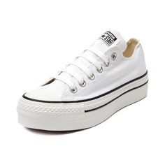 Shop for Womens Converse All Star Lo Platform Sneaker in White at Journeys Shoes. Shop today for the hottest brands in mens shoes and womens shoes at Journeys.com.The classic Converse All Star Lo top just got a feminine lift! White canvas upper and sole, 6 eyelet lace-up, and 2 platform beneath a rubber bumper and toe box. Available only online at Journeys.com and SHIbyJourneys.com!