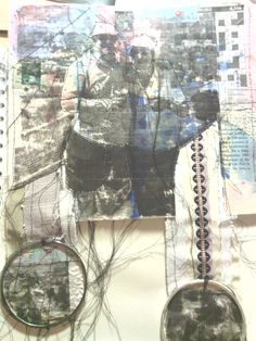 AS collage pieces- Fine art Coursework  Lizzie Peck