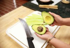 Removing the avocado seed
