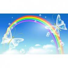 Αυτοκόλλητες φωτοταπετσαρίες με πεταλούδες στο ουράνιο τόξο Rainbow Butterfly, Butterfly Art, Butterflies, Cover Wallpaper, Wallpaper Pictures, Rainbow Cartoon, Rainbow Images, Fb Cover Photos, Theme Background