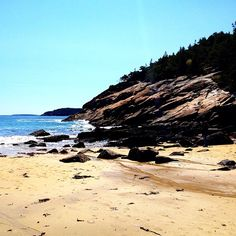 Sand Beach in Bar Harbor, ME http://www.visitmaine.net/page/55/beaches-maine