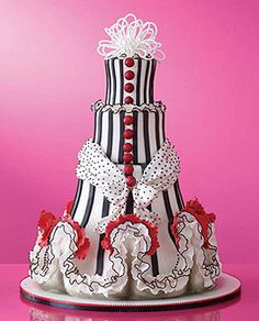A Can-Can wedding cake.