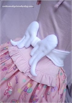 Angel wings soft ribbon tie belt angelic by CuteCandyClouds, $40.00