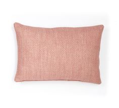 Large Square Cushion in Pink Figured Linen