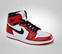 brand new 308a0 a2799 Air Jordan 1 High OG-White-Varsity Red–Black  sneakers  kicks