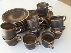 (2) FINN – PORSGRUND PORSELEN LAVA SERVISE Lava, Tableware, Dinnerware, Dishes, Porcelain Ceramics