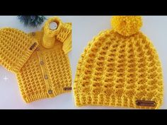 Moda Crochet, Crochet Baby, Baby Knitting Patterns, Crochet Patterns, Knitted Hats, Beanie, Sewing, Accessories, Dresses