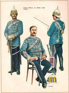 BRITISH ARMY - Officer Madras Light Cavalry c by Chris Rothero. Originally published in Military Modelling Magazine British Army Uniform, British Uniforms, British Soldier, Colonial India, British Colonial, Commonwealth, Bengal Lancer, Military Police, Military Uniforms