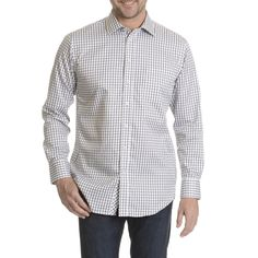 Shop for Daniel Hechter Men's Non-iron Checker-patterned Classic Fit Dress Shirt. Get free delivery On EVERYTHING* Overstock - Your Online Men's Clothing Shop! Non Iron Dress Shirts, Fitted Dress Shirts, Shirt Dress, Dapper, Best Deals, Classic, Fitness, Pattern, Cotton