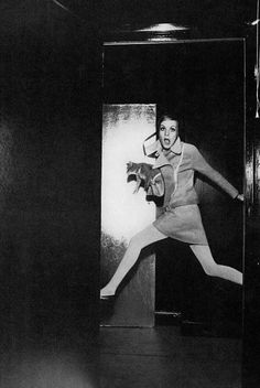 pinterest.com/fra411 #photography - Twiggy by Helmut Newton, 1967.