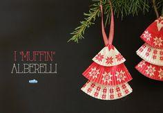 """Quandofuoripiove: Addobbi natalizi da fare coi bambini: gli alberelli """"muffin"""""""