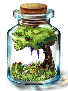 Pixiv Id 636818, Pokémon, Pikachu, Mushroom, Vines, Watering Can