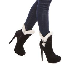 Chanya - platform bootie that is lined with seasonally appropriate faux-shearling