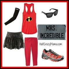 Mrs. Incredible Easy Costume. Homemade Incredibles costume. Running costume ideas. Run Disney Costumes, Disney Cosplay, Halloween Costumes, Zombie Costumes, Teen Costumes, Halloween Couples, Woman Costumes, Mermaid Costumes, Group Halloween