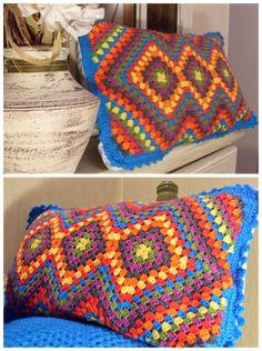 Crochet Bedspread Pattern, Crochet Baby Dress Pattern, Granny Square Crochet Pattern, Afghan Crochet Patterns, Crochet Squares, Crochet Motif, Crochet Doilies, Crochet Cord, Cute Crochet
