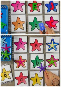 Ocean Theme Alphabet Activities for Preschool Ocean Activities, Alphabet Activities, Language Activities, Preschool Alphabet, Preschool Literacy, Kindergarten Activities, Preschool Activities, Ocean Unit, Summer Fun For Kids