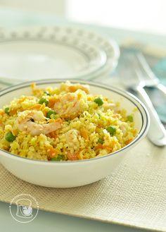 Couscous marroquino com camarões | Cupcakeando