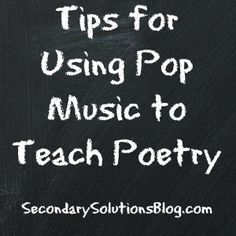 Using Pop Music to Teach Classic Poetry
