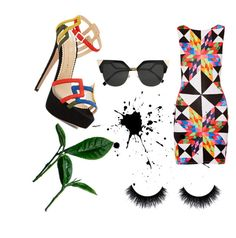 """Geometric circus"" by ziasmin on Polyvore featuring Charlotte Olympia, Mara Hoffman and Fendi"