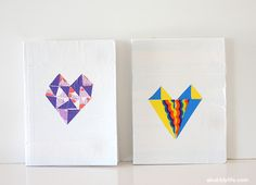 back to school diys, geometric diys, duct tape diys