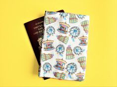 Your place to buy and sell all things handmade Passport Wallet, Passport Cover, Bright Color Schemes, Peg Bag, New Print, Pigment Ink, Travel Gifts, Candy Colors, Unique Vintage