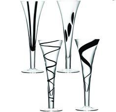 Cookinglife - LSA Champagneflutes Jazz - 4 Stuks