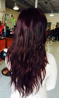 Beautiful Black Cherry Red Violet/Purple Hair Color